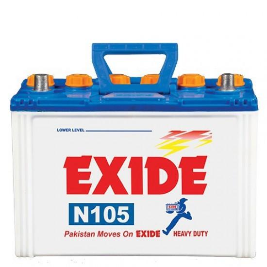 Exide N105 Lead Acid Battery 13 Plates 80 Ah  Price in Pakistan