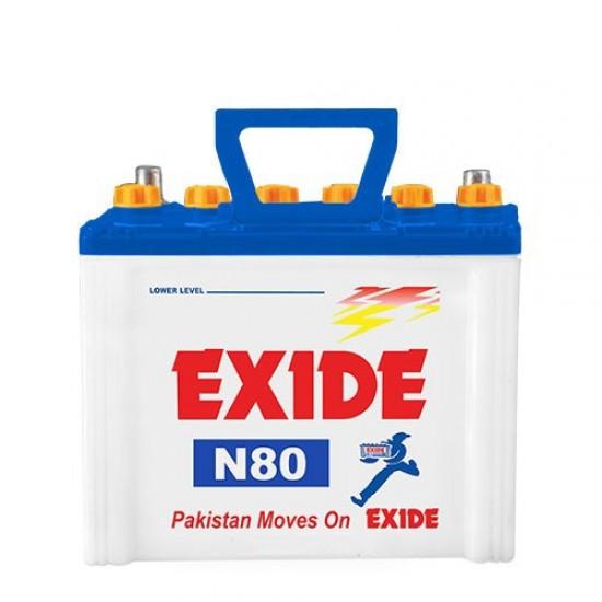 Exide N80 Lead Acid Battery 11 Plates 65 Ah  Price in Pakistan