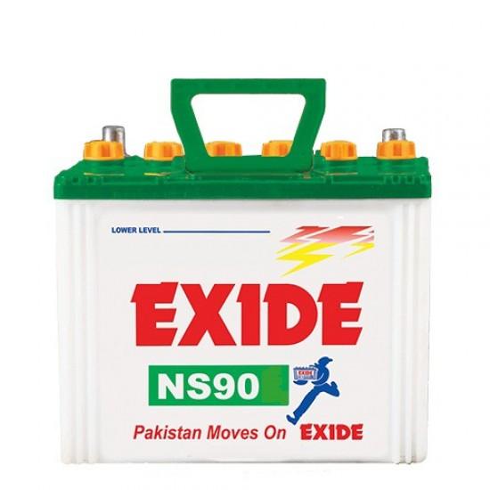 Exide NS90 Lead Acid Battery 13 Plates 72 Ah  Price in Pakistan