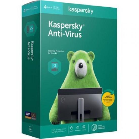 Kaspersky KAV4PCRT2020 Anti-Virus 2020 4-User DVD Box Pack   Price in Pakistan