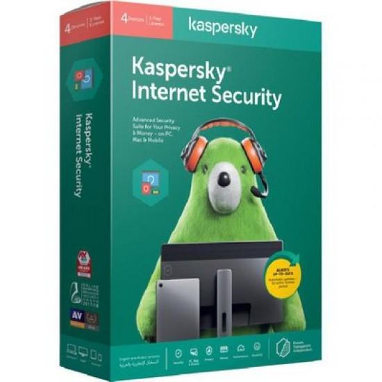 Kaspersky KIS4PCRT2020 Internet Security 2020 4-User DVD Box Pack  Price in Pakistan