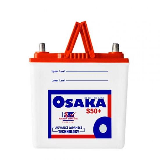 Osaka S50+ Lead Acid Battery 9 Plates 34 AH  Price in Pakistan