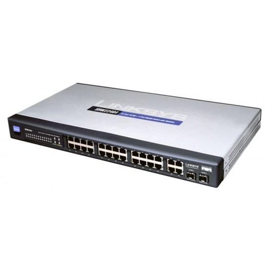 Cisco SRW224G4 24-port 10/100 + 4-port Gigabit Switch