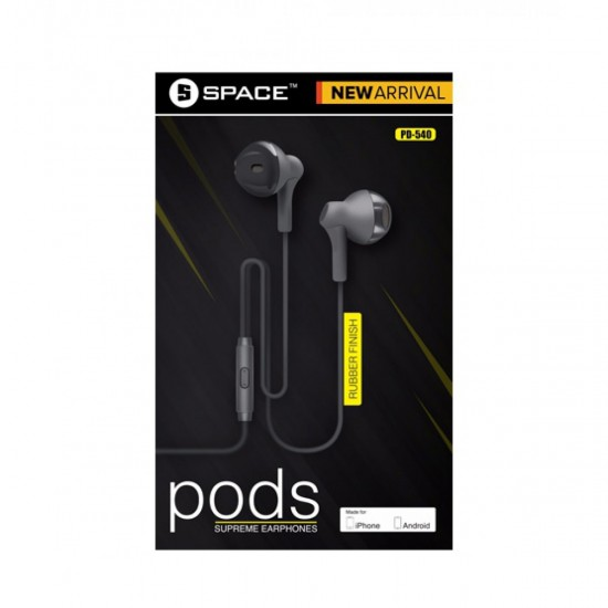 SPACE PD-540 PODS Supreme Earphone