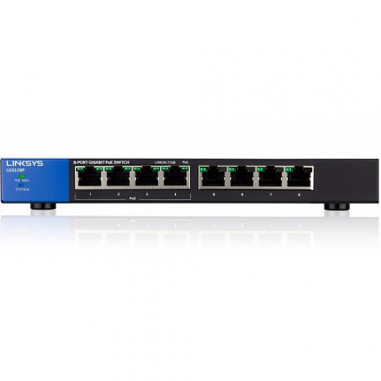 Linksys LGS108P 8-Port Business Desktop Gigabit PoE+ Switch  Price in Pakistan